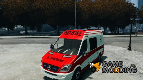 Mercedes-Benz Sprinter [DRK] Ambulance [Krankenwagen] для GTA 4
