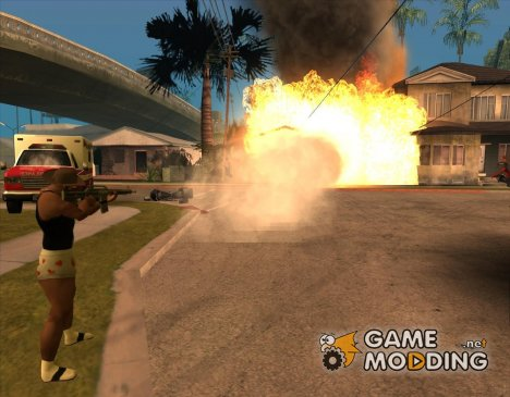 Grenade Fire Weapon для GTA San Andreas