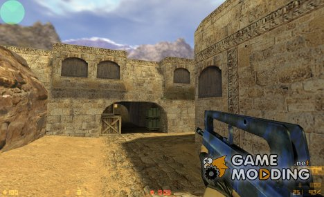 Famas (Blue Tiger Camo) for Counter-Strike 1.6