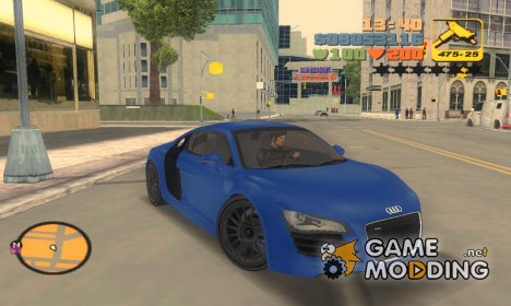"Audi R8 V10 ""TT Black Revel"" for GTA 3"
