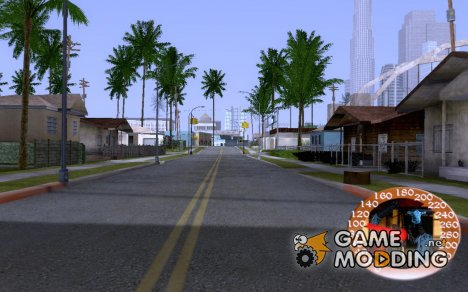 Spedometr C.J-SPEED для GTA San Andreas