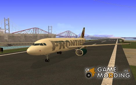 Airbus A319 Frontier Airlines 'Foxy' для GTA San Andreas