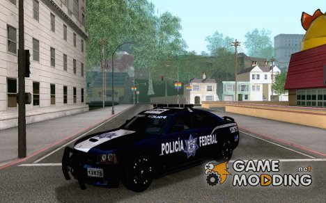 Dodge Charger SRT 8 2006 Policia Federal Mexicana для GTA San Andreas