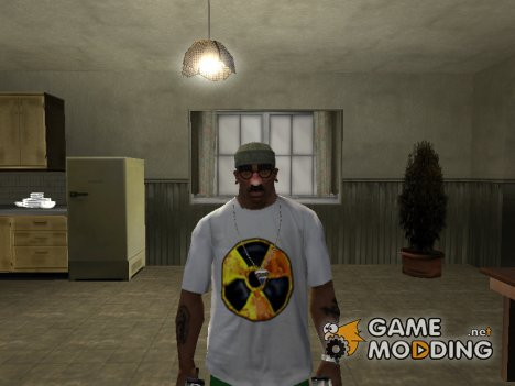 "Футболка с логотипом игры ""S.T.A.L.K.E.R Чистое Небо"" для GTA San Andreas"