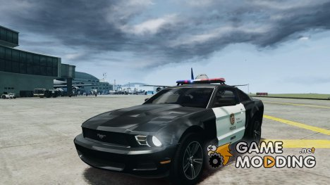 Ford Mustang V6 2010 Police v1.0 for GTA 4