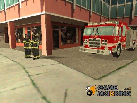 Реалистичная пожарная станция в Лос Сантосе for GTA San Andreas