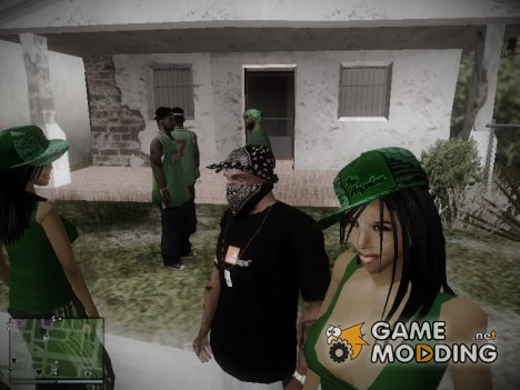 Gang girl Grove version (By Rime) for GTA San Andreas