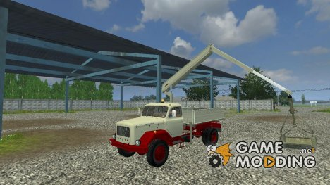 Magirus Mounted Crane With Bucket v 1.1 for Farming Simulator 2013