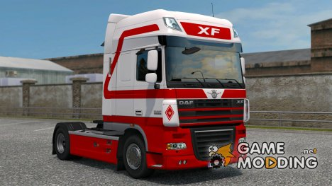 Red White для DAF XF105 for Euro Truck Simulator 2