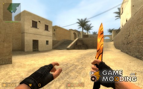 Knife Tiger Skin for Counter-Strike Source