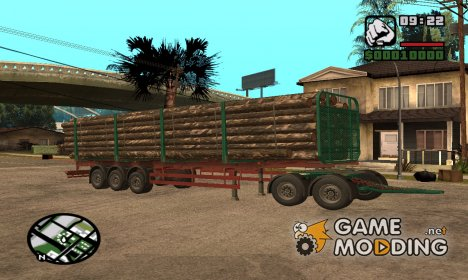Iveco EuroTech Forest Trailer for GTA San Andreas