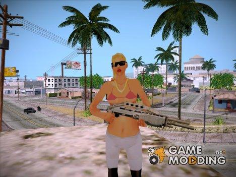 Девушка из загрузочных экранов для GTA San Andreas