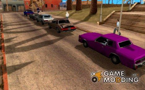 Более яркие цвета для автомобилей for GTA San Andreas