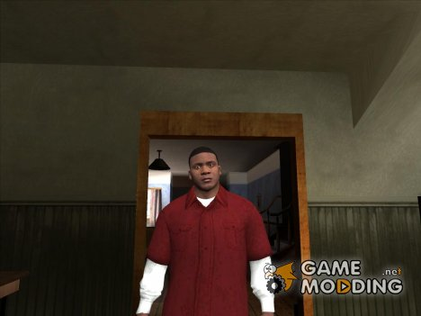 Franklin Red Shirt для GTA San Andreas