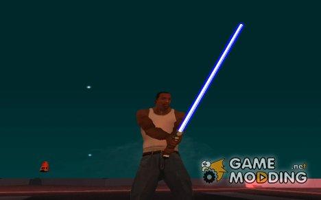 Синий световой меч v2 for GTA San Andreas