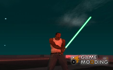 Зелёный световой меч v2 для GTA San Andreas