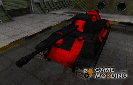 Черно-красные зоны пробития Panther II for World of Tanks