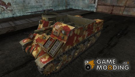 "Шкурка для M7 Priest ""Desert"" for World of Tanks"