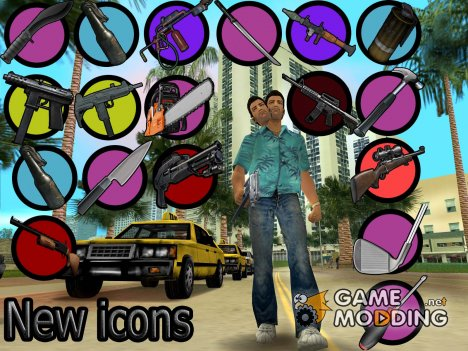 New weapon icons for GTA Vice City