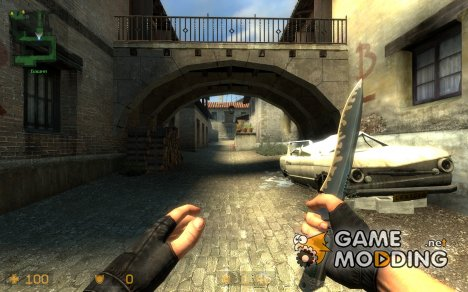 silver knife / skin base for Counter-Strike Source