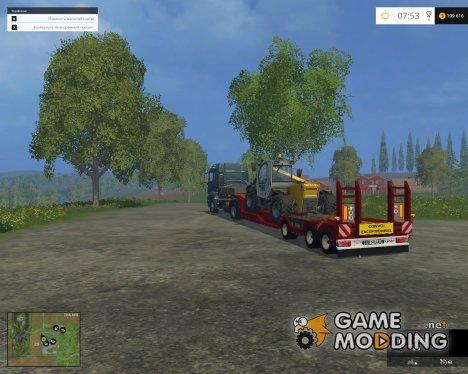 Платформа для перевозки техники для Farming Simulator 2015