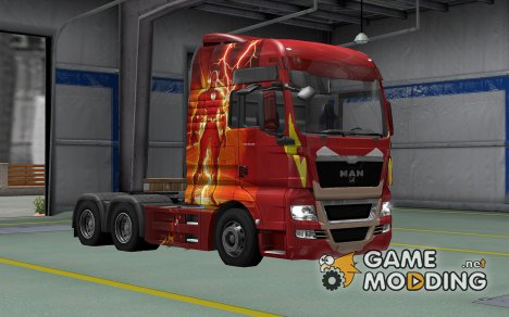 Скин Flash для MAN TGX for Euro Truck Simulator 2