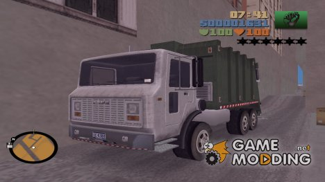 Мусоровоз HQ for GTA 3