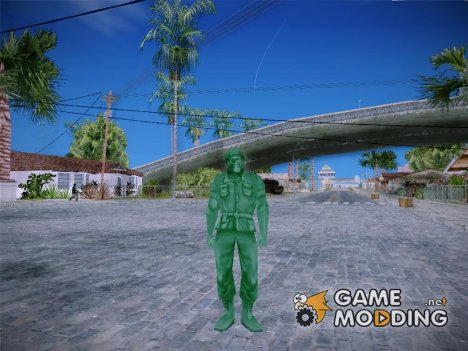 Green Solider from Army Men Serges Heroes 2 (DC) for GTA San Andreas