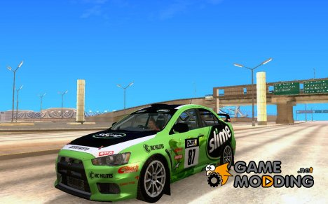 Mitsubishi Lancer Evolution X Rally для GTA San Andreas