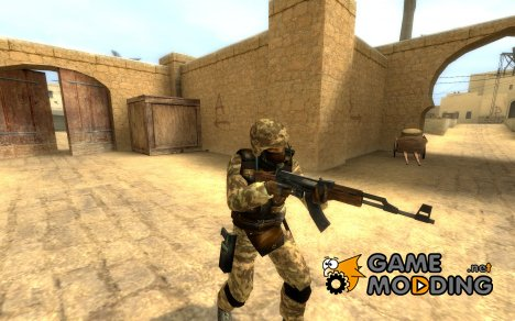 Brown camo gsg9 for Counter-Strike Source