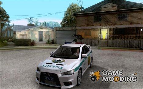Mitsubishi Lancer Evolution X Казахстанская Полиция for GTA San Andreas