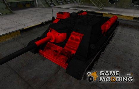 Черно-красные зоны пробития СУ-100 для World of Tanks