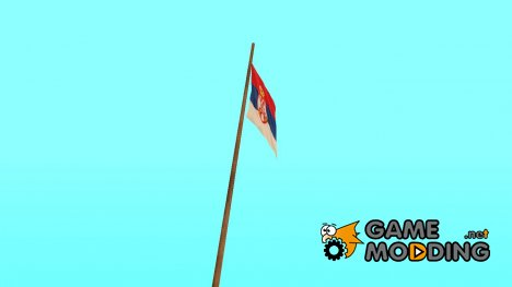 Serbian flag on mount Chiliad для GTA San Andreas