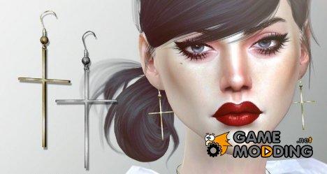 Серьги Eleanor for Sims 4