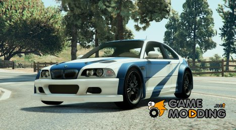 "BMW M3 GTR E46 ""Most Wanted\"" 1.3 для GTA 5"