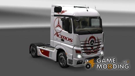 """Скин """"ACTROS"""" для Mercedes Actros 2014 для Euro Truck Simulator 2"""