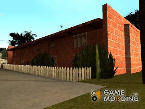 Новые текстуры двухэтажных домов на Грув Стрит for GTA San Andreas