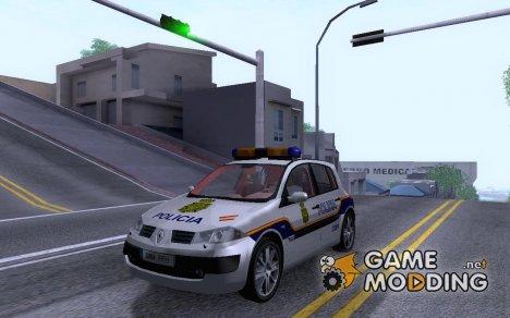 Renault Megane Spain Police for GTA San Andreas