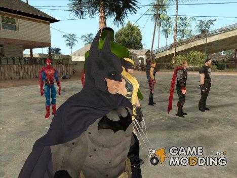 Марвел супергерои для GTA San Andreas