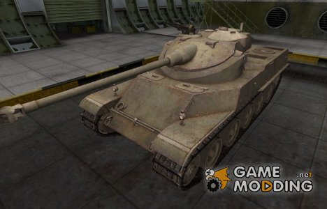 Пустынный французкий скин для AMX 50 100 for World of Tanks