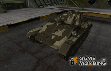 Пустынный скин для Т-70 for World of Tanks