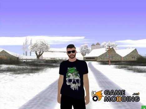 Skin GTA Online в чёрной одежде для GTA San Andreas