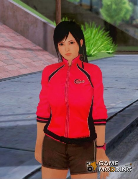 Kokoro wearing a tracksuit for GTA San Andreas