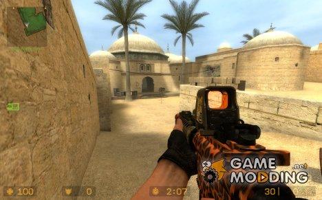 Leopard Camo Aug для Counter-Strike Source