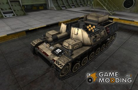 Шкурка для Sturmpanzer II для World of Tanks