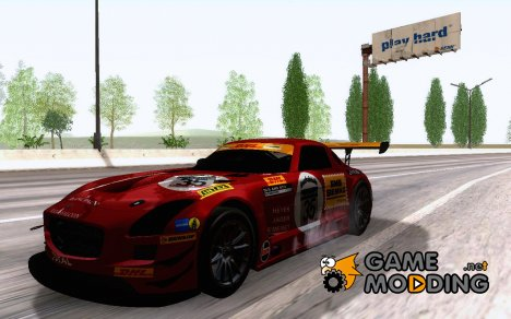 Mercedes Benz SLS AMG GT3 Black Falcon 2011 для GTA San Andreas