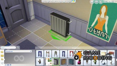 Батарея под окно для Sims 4