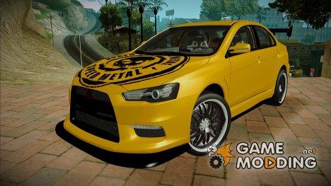 Mitsubishi Lancer Evolution X Metalhead для GTA San Andreas
