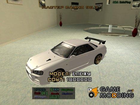 Текстуры машин для GTA Sa