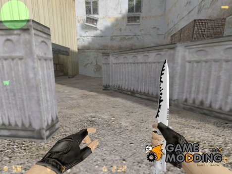 Zebra Knife для Counter-Strike 1.6